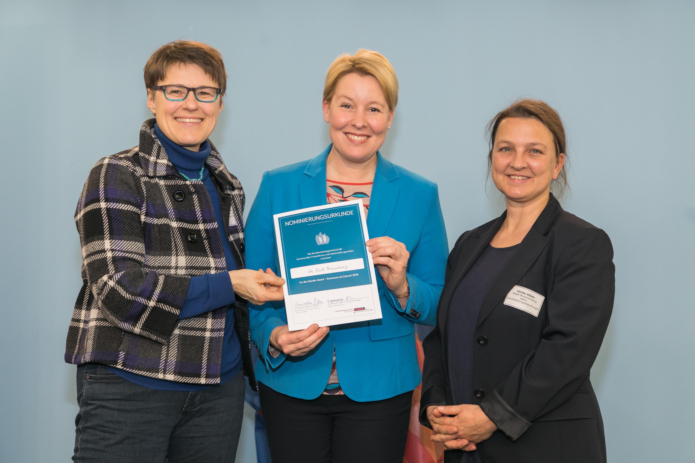 030 Gender Award 2019 Nominierte Kommune Braunschweig