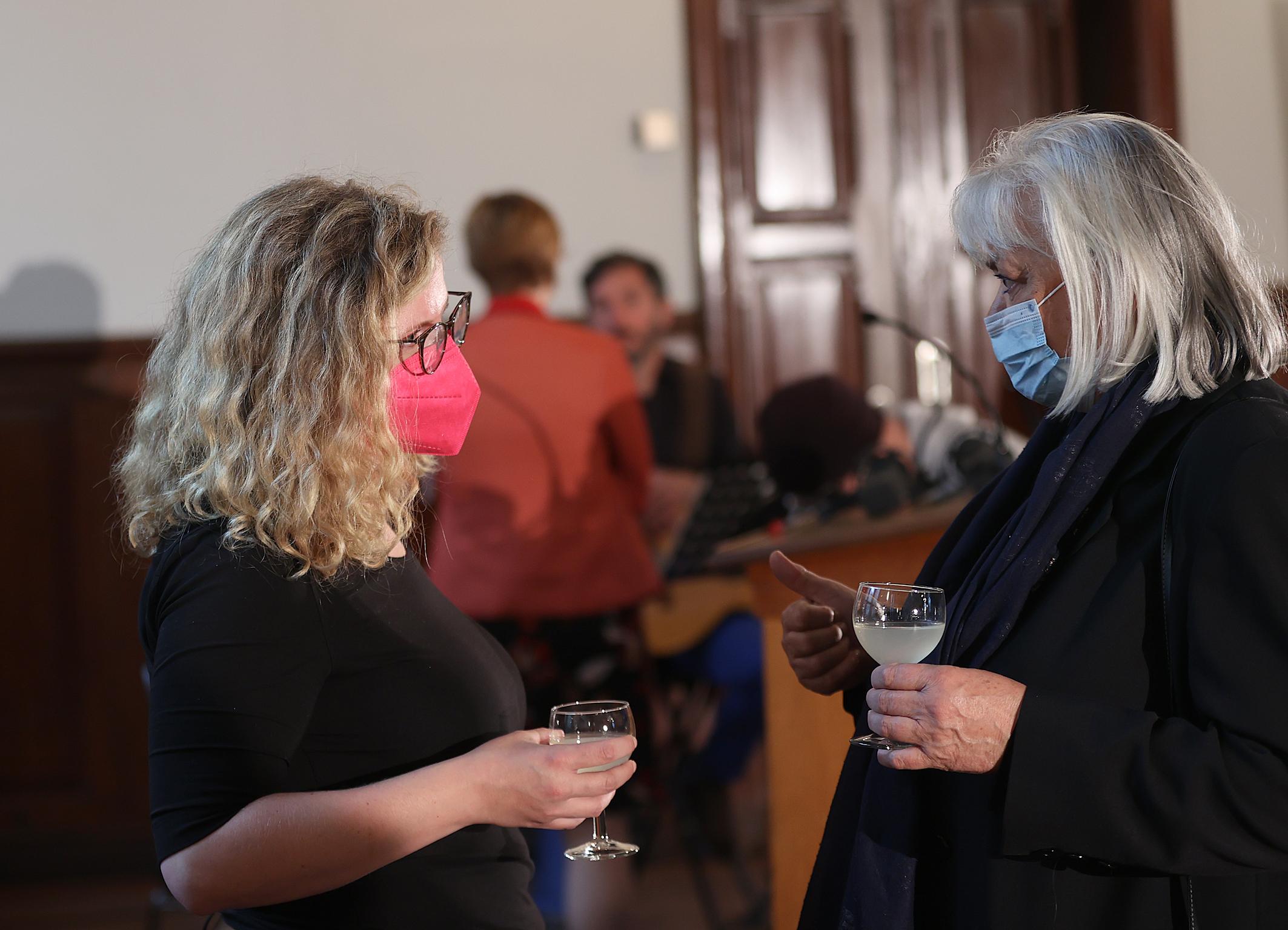 29.08.2021 Empfang aus Flensburg Sonja Reese-Brauers und Nora Malles