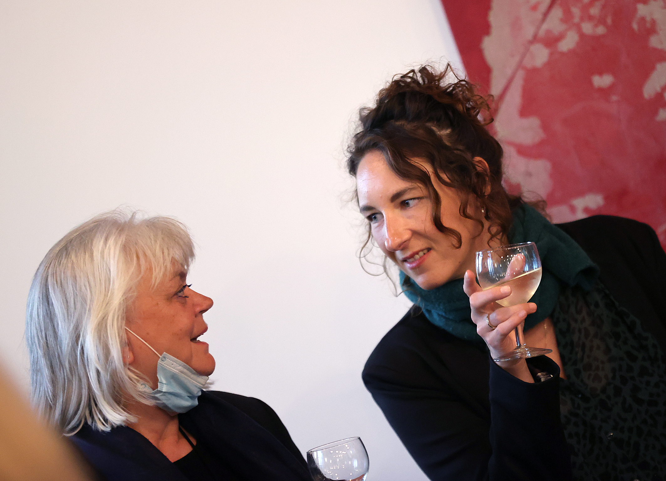 29.08.2021 Empfang aus Flensburg Sonja Reese-Brauers und Celestine Hassenfratz