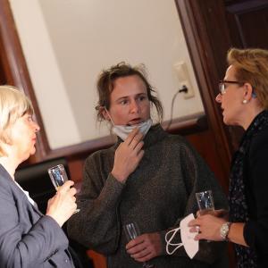 29.08.2021 Empfang aus Flensburg Brigitte Kowas, Ramona Ebert, Katja Weber-Khan