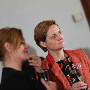 29.08.2021 Empfang aus Flensburg Frauen- und Gleichstellungsbeauftragte Verena Balve und Oberbürgermeisterin Simone Lange
