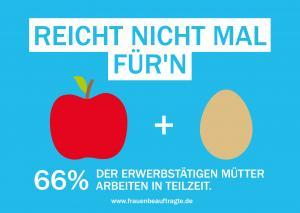 """Karte zur Kampagne: """"reicht nicht mal für"""": Marie Rochow, Benjamin Rein"""