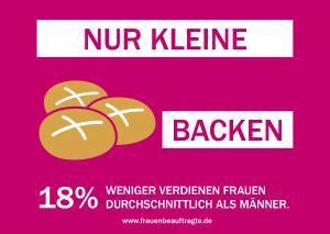 """Postkarte zur Kampagne: """"kleine Brötchen backen"""": Marie Rochow, Benjamin Rein"""