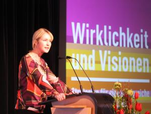 Eröffnung 22. Bundeskonferenz, Bundesministerin Manuela Schwesig, © Sarah Kleemann